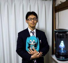 ¿Vivan los novios? Hombre se casa con un holograma